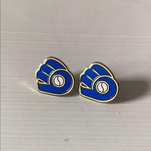 Milwaukee Brewers Retro Logo Stud Earrings